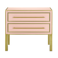 Arden Silver Peony/Satin Brass Chest