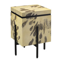 Karlson 18 inch Natural Vellum and Caviar Black Side Table Home Decor