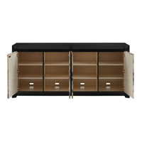 Karlson Natural Vellum and Caviar Black Credenza