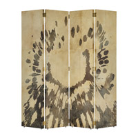 Karlson Natural Vellum and Caviar Black Folding Screen