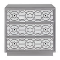 Alisa Paloma Gray Drawer Chest, 3 Drawers