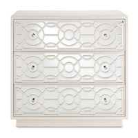 Currey & Company 3000-0039 Alisa Marshmallow Drawer Chest, 3 Drawers photo thumbnail