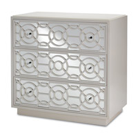 Currey & Company 3000-0039 Alisa Marshmallow Drawer Chest, 3 Drawers alternative photo thumbnail