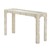 Leena 55 inch Natural Clam Rose Shells Console Table Home Decor