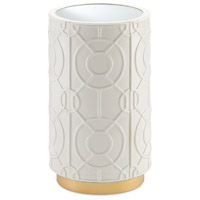 Alisa Marshmallow and Gold and Mirror Side Table Home Decor