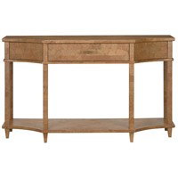 Renee 60 inch Natural Cork and Gold and Polished Brass Console Table Home Decor