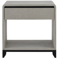 Nicolene 28 inch Gray and Caviar Black Night Stand Home Decor