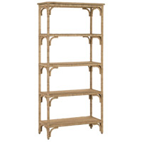 Currey & Company 3000-0086 Olisa 72 X 34 inch Natural Abaca Rope and Washed Wood Etagere