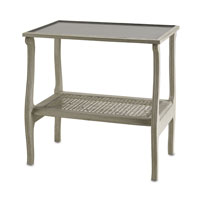 Currey & Company Emilia Occasional Table in Gray Pearl 3007 photo thumbnail