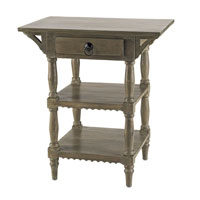 Currey & Company Cranbourne Side Table in Swedish Gray 3014