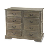 Currey & Company Cranbourne Eight Drawer Chest in Swedish Gray 3018