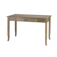 Currey & Company Cranbourne Writing Desk in Swedish Gray 3019 photo thumbnail