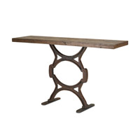 Currey & Company Factory Console Table in Rustic/Natural 3022