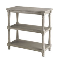 Currey & Company Loro Dumbwaiter in Antique Silver Wash 3033
