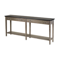 Currey & Company Westrow Console in Antique Ebony/Natural 3036
