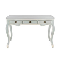 Currey & Company Salon Writing Desk in French Gray/Cream 3049 alternative photo thumbnail