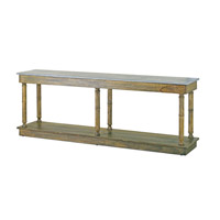 Sansom 84 X 16 inch Distressed Slate Top/Distressed Charcoal Console Table