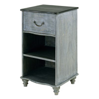Currey & Company 3102 Whitmore 17 X 15 inch Burnt Coal/Vintage Steel Night Stand Home Decor