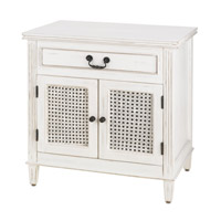 Currey & Company Swinsty Cabinet in Distressed White 3209