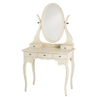 Currey & Company Deborah Vanity Table in Sand Vintage 3215