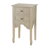 Currey & Company Dominic Nightstand in Silver Wash Antique 3216