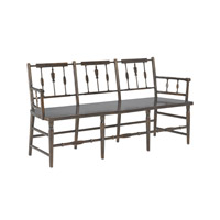 Currey & Company Chestertown Bench in Brandywine Mahogany 3229