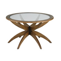 Ellen 31 inch Weathered Walnut Coffee Table Home Decor