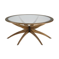 Ellen 42 inch Weathered Walnut Coffee Table Home Decor