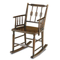 Currey & Company Chestertown Rocking Chair in Brandywine Mahogany 3233