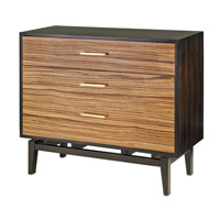 Currey & Company Modern Chest in Macassar Ebony and Zebrawood 3236