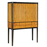 Currey & Company Streamline Cabinet in Primavera and Mahogany 3237