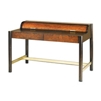 Currey & Company Normandie Desk in Walnut Burl and Brass 3243