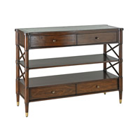 Currey & Company Wesson Console Table in Mahogany and Antique Mirror 3251