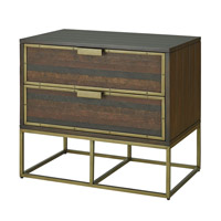 Currey & Company Holden Nightstand in Weathered Acacia with Walnut Stain 3255