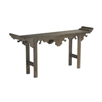 Currey & Company Jade Altar Table in Distressed Vintage Brown 3260