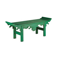 Currey & Company Jade Bench in Jolly Green 3261