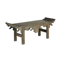 Currey & Company Jade Bench in Distressed Vintage Brown 3262