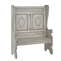 Currey & Company Fullerton Bench in Oyster 3990