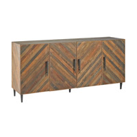 Currey & Company Constantine Credenza in Natural and Old Iron 3993
