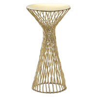 Gia 12 inch Matte Brass Drink Table Home Decor