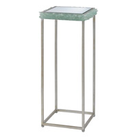 Cyathea 27 X 12 inch Contemporary Silver Leaf / Seaglass Drink Table