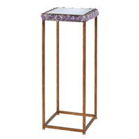 Princess 12 X 12 inch Textured Gold / Amethyst Drinks Table Home Decor