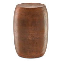 Currey & Company Rumi Stool in Antique Copper 4000-0010