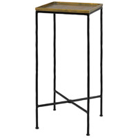 Boyles 27 X 12 inch Black / Antique Brass Drink Table