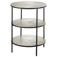 Cane 20 inch Black/Pewter Accent Table Home Decor