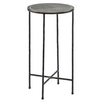 Brett 14 inch Black/Nickel Drink Table Home Decor