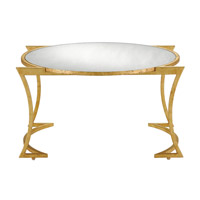 Lenox 32 inch Grecian Gold Leaf/Antique Mirror Cocktail Table Home Decor