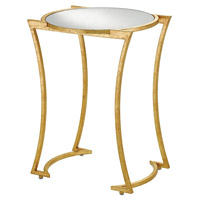 Lenox 18 inch Grecian Gold Leaf/Antique Mirror Accent Table Home Decor