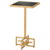 Chloe 141 inch Gold Leaf/Black Drink Table Home Decor