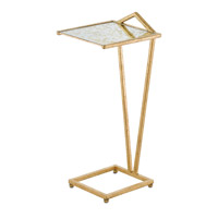 Veda 10 inch Dutch Gold Leaf/Gold Raj Mirror Drink Table Home Decor